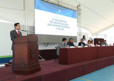 Dr. José Luis Santana Medina, Rector del CUValles, da mensaje de bienvenida